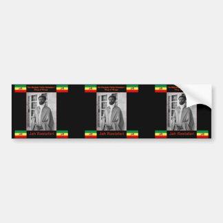 Haile Selassie the Lion of Judah, Jah Rastafari Bumper Sticker