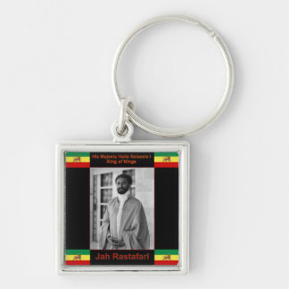 Haile Selassie the Lion of Judah, Jah Rastafari Key Chain