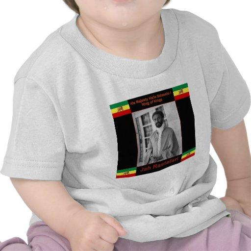 Haile Selassie the Lion of Judah, Jah Rastafari Tshirt