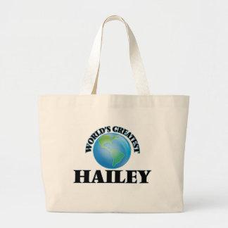 Hailey más grande del mundo bolsas lienzo