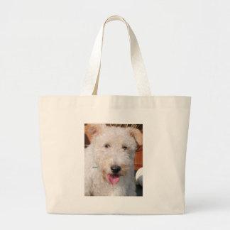 Hailey - Wire Fox Terrier Photo-8 Jumbo Tote Bag