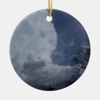 Hailmaker Cumulonimbus Cloud Ceramic Ornament