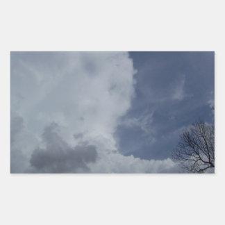 Hailmaker Cumulonimbus Cloud Rectangle Sticker