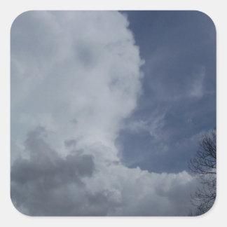 Hailmaker Cumulonimbus Cloud Square Sticker