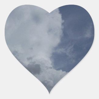 Hailmaker Cumulonimbus Cloud Heart Stickers