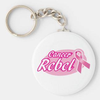 Hain rebelde de Keyc del cáncer Llavero Redondo Tipo Pin