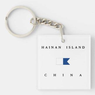 Hainan Island China Alpha Dive Flag Keychain