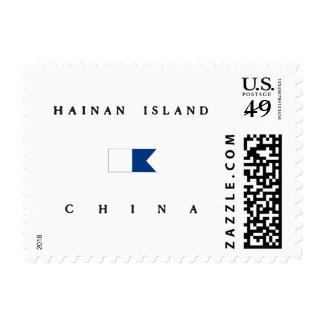 Hainan Island China Alpha Dive Flag Stamps