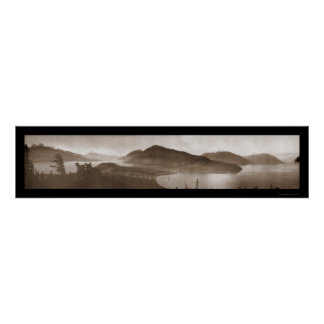 Haines, AK Panorama Photo 1915 Poster