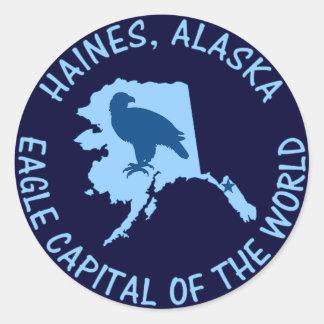 Haines, Alaska Eagle Capital of the World Classic Round Sticker