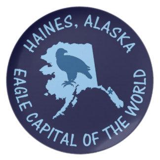 Haines, capital de Alaska Eagle del mundo Plato De Comida