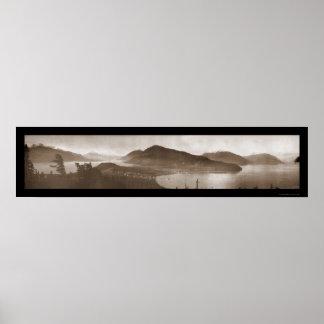 Haines, foto 1915 del panorama de AK Póster