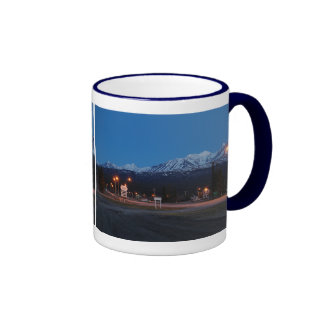Haines Junction to the blue hour Ringer Mug