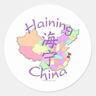 Haining China Classic Round Sticker