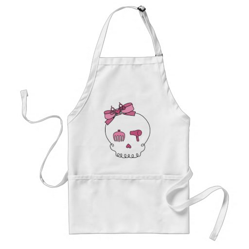 Hair Accessory Skull (Bow Detail) Adult Apron