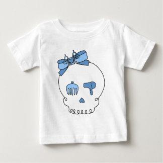 Hair Accessory Skull (Bow Detail - Blue) Baby T-Shirt