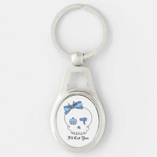 Hair Accessory Skull (Bow Detail - Blue) Keychain