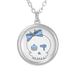 Hair Accessory Skull (Bow Detail - Blue) Necklace