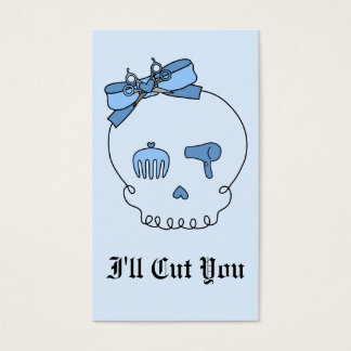 Hair Accessory Skull (Bow Detail - Blue Version 2) Business Card