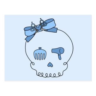 Hair Accessory Skull (Bow Detail - Blue Version 2) Postcard