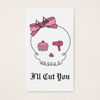 Hair Accessory Skull (Bow Detail) Business Card