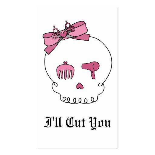 Hair bow business card templates bizcardstudio hair accessory skull bow detail business card templates colourmoves