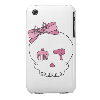 Hair Accessory Skull (Bow Detail) iPhone 3 Case-Mate Case