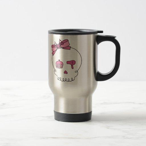 Hair Accessory Skull (Bow Detail) Coffee Mugs