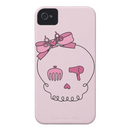 Hair Accessory Skull (Bow Detail iPhone 4 Case