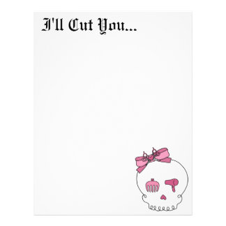 Hair Accessory Skull (Bow Detail) Letterhead