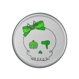 Hair Accessory Skull (Bow Detail Lime Green) Speaker
