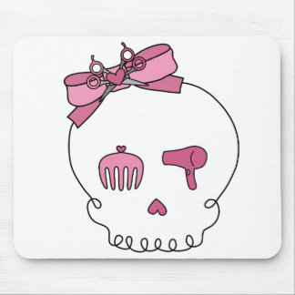 Hair Accessory Skull (Bow Detail) Mouse Pad