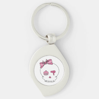 Hair Accessory Skull (Bow Detail Pink) Keychain