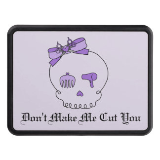 Hair Accessory Skull (Bow Detail Purple #2) Trailer Hitch Covers