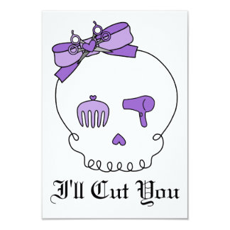 Hair Accessory Skull (Bow Detail - Purple) Card