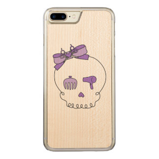 Hair Accessory Skull (Bow Detail Purple) Carved iPhone 7 Plus Case