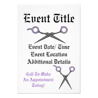 Hair Accessory Skull (Bow Detail - Purple) Invitation