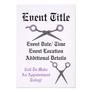 Hair Accessory Skull (Bow Detail - Purple w/ Back) Custom Invite