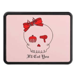 Hair Accessory Skull (Bow Detail Red #2) Tow Hitch Cover