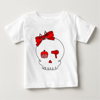 Hair Accessory Skull (Bow Detail - Red) Baby T-Shirt