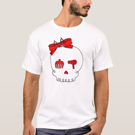 Hair Accessory Skull (Bow Detail - Red) T-Shirt