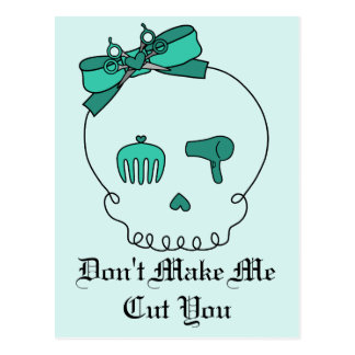 Hair Accessory Skull (Bow Detail - Turquoise #2) Postcard