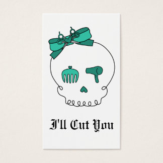 Hair Accessory Skull (Bow Detail - Turquoise) Business Card