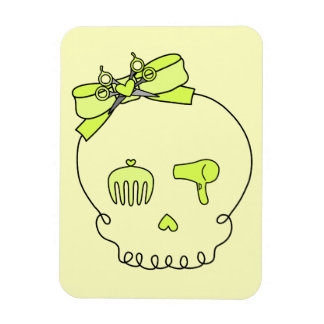 Hair Accessory Skull (Bow Detail Yellow #2) Magnet