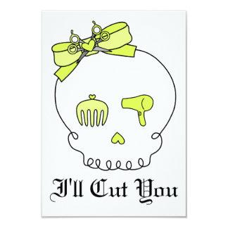 Hair Accessory Skull (Bow Detail - Yellow) Card