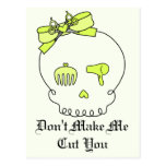 Hair Accessory Skull (Bow Detail - Yellow w/ Back) Postcard