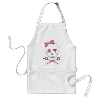 Hair Accessory Skull & Scissor Crossbones Adult Apron