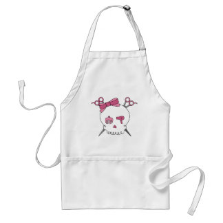 Hair Accessory Skull (Scissor Crossbones) Adult Apron