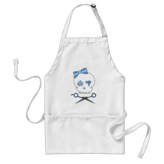 Hair Accessory Skull & Scissor Crossbones (Blue) Adult Apron
