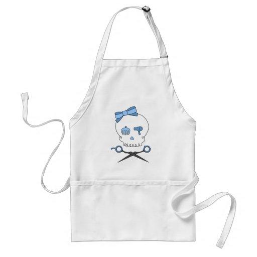 Hair Accessory Skull & Scissor Crossbones (Blue) Apron